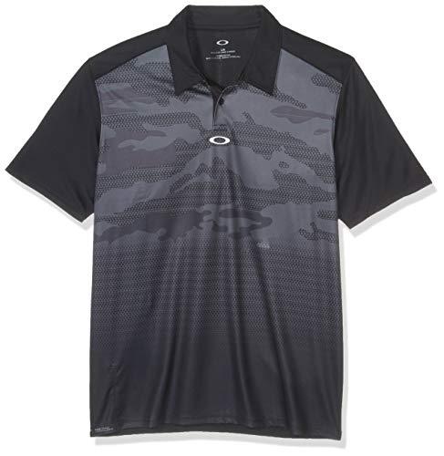 Oakley Herren Poloshirt Deep Rough Camo, Herren, Polo, Deep Rough Camo Polo, Blackout, Large