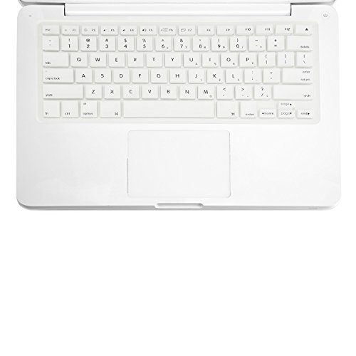 Carcasa superior–Teclado Funda Piel de silicona para MacBook de 13'y 13,3' (1st Generation/A1181) con TopCase ratón Pad