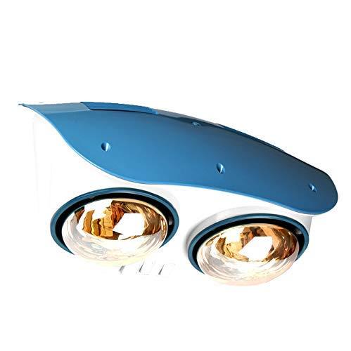 Kleine tragbare Wand-Badheizung mit wasserdichter und hochtemperaturbeständiger Doppel-Infrarot-Heizlampe, Zwei Schaltern, ohne Lüfter, 550 W