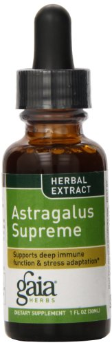 Gaia Herbs Astragalus Supreme, Liquid Herbal Extract, 1 Ounce (Pack of 2) - Deep Immune Support and Stress Resistance, with Antioxidants