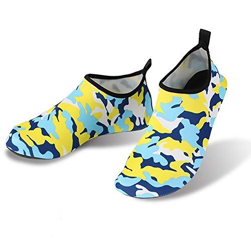 WHSS Zapatos de Playa Natación al Aire Libre Unisex Río río Arriba Piel en la Playa Buceo Velocidad interferencia Calcetines de Surf de Agua Anfibios a Prueba de Arena antifales for Correr Zapatillas