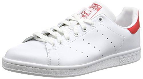 adidas Originals Stan Smith, Scarpe da Ginnastica Uomo, Bianco (Footwear White/Collegiate Red), 37 1/3 EU