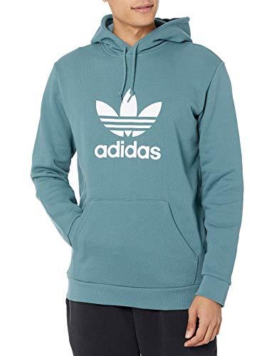adidas Originals Trefoil Hoodie Sudadera, Hazy Smaragd, M para Hombre