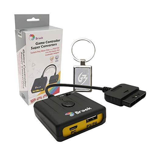 gam3gear Brook Super USB Adapter für PS3PS4zu PS2PC Controller Konverter Adapter mit gam3gear Schlüsselanhänger