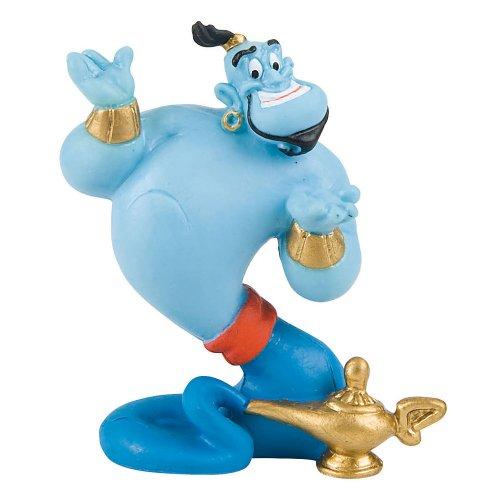 Bullyland 12472 - Spielfigur, Walt Disney Aladdin, Dschinni, ca. 7,5 cm groß, liebevoll handbemalte Figur, PVC-frei, tolles Geschenk für Jungen und Mädchen zum fantasievollen Spielen