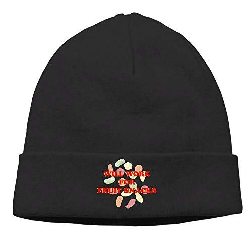 WENZXC Men Will Work for Fruit Snack Soft Hip-Hop Black...