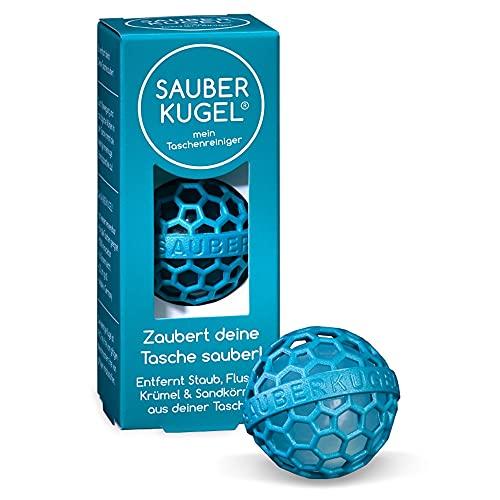 SAUBERKUGEL® für die Tasche   Petrol   Wiederverwendbarer Taschenreiniger für Handtasche, Schulranzen & Rucksäcke   Nimmt Schmutz, Krümel & Flusen auf   Silikon- und PVC frei (3,5 cm)
