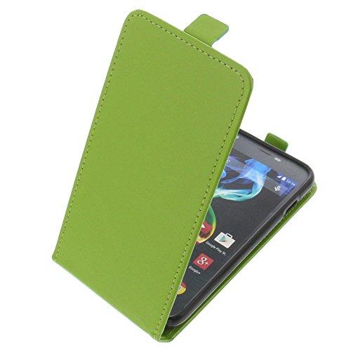 foto-kontor Tasche für Archos 50c Platinum Smartphone Flipstyle Schutz Hülle grün