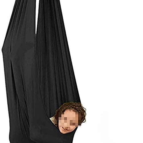 MHCYKJ Hamaca Terapia De Interior con Necesidades Especiales Snughle Swing Abrazo Hamaca para NiñOs Hamaca para NiñOs Swing De Terapia (Color : Black, Size : 150x280CM/59×110in)