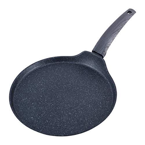 28cm Induktion Pfannkuchen Bratpfanne Blinis Crêpes Pancakes Antihaft Oladji Aluminium