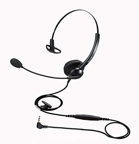 MAIRDI Telefon Headset mit 2 5mm Klinke, Mono CallCenter Festnetztelefone Kopfhörer mit Mikrofon Noise Cancelling für Panasonic Cisco SPA Siemens Gigaset Grandstream Polycom DECT Schnurlostelefon