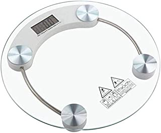 MS Smart Digital Weighing Scale Highly Accurate Bathroom Body Weighting Scale 180 KG Capacity (Circle)