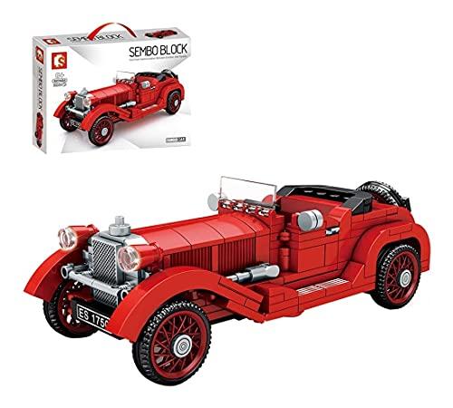 zxwd Technics Classic Car Set Compatible con Technic, 324pcs Technic Retro Vintage Model, Bloques de construcción para Adultos y niños