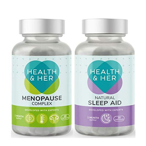 Health & Her Day and Night Bundle - Menopause Complex 60 Capsules & Sleep Aid 30 Capsules