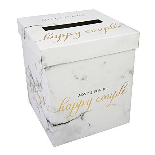 Neviti - geschrift marmer - bruiloft wensen post doos