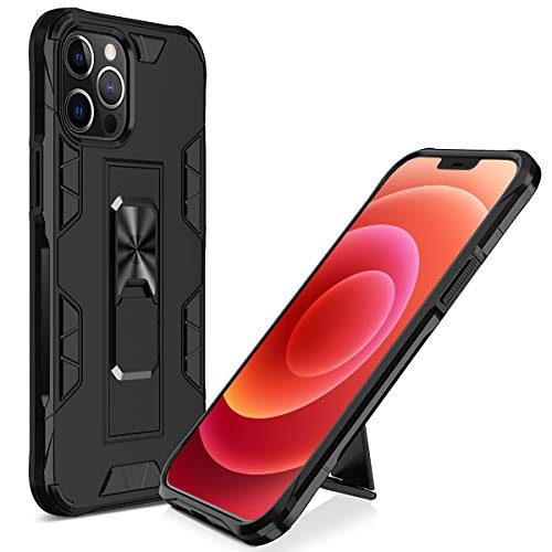 Cenmuttek Compatible with iPhone 12 Pro Max Case Military Grade Full-Body Rugged with Phone Grip and Expanding Stand. Drop Tested Protective Case | Kickstand | For iPhone 12 Pro Max Case(6.7inches)