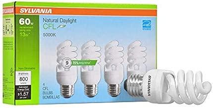 Sylvania Natural Daylight CFL 5000K 60W/13W 4Pack