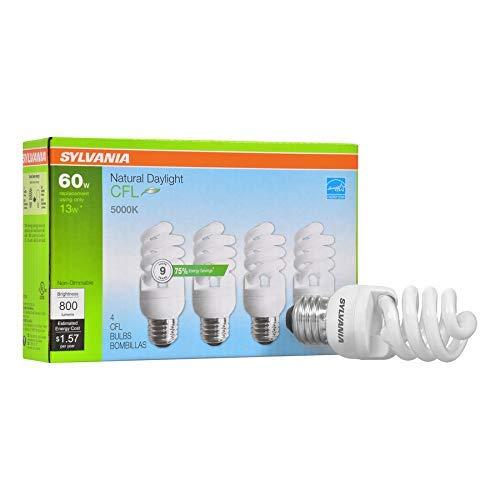 Sylvania Natural Daylight CFL 5000K 60W / 13W 4Pack
