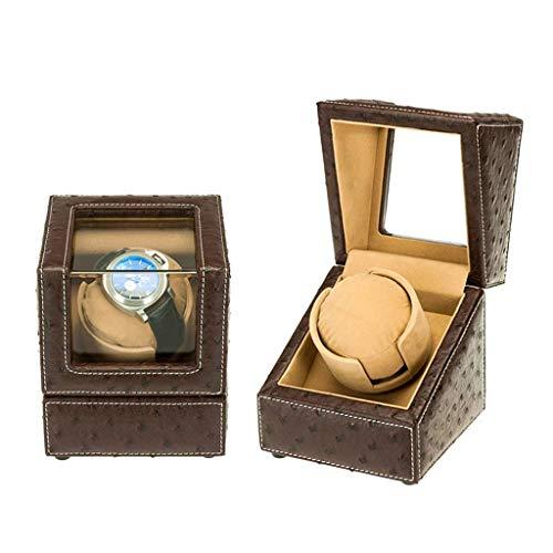 XUSHEN-HU Automatischer Uhrenbeweger für den Haushalt, mit leisem Motor, für 1 Uhren, Aufbewahrungsboxen, Uhrenbeweger Box (Farbe: Braun)
