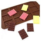 1 unids Molde de silicona 12 Células Molde de chocolate Fondant Patisserie Candy Bar Molde Modo Cake Modo Decoración Cocina Accesorios para hornear