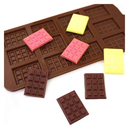 QUQU 1 unids Molde de Silicona 12 Células Molde de Chocolate Fondant...