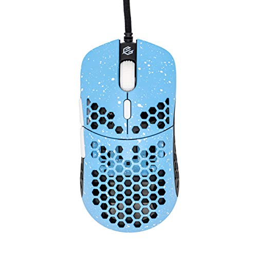 Gwolves Hati HTM Stardust (Limited Edition) Ultra Lightweight Honeycomb Design Wired Gaming Mouse up to 16000 DPI - 3389 Performance Sensor - (58g) (Blue Sky)
