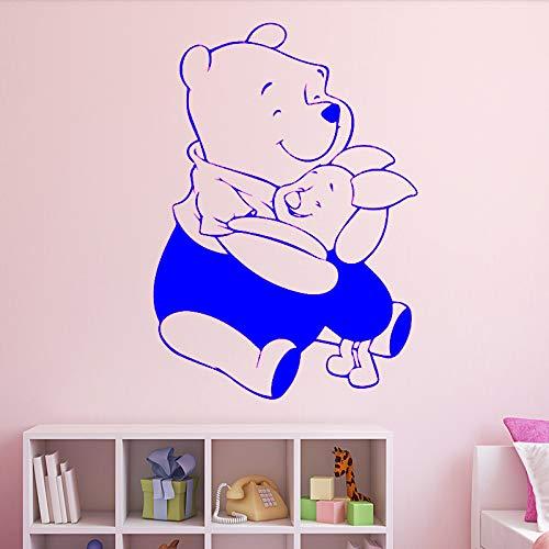 zqyjhkou Lustige Bär Wandaufkleber Selbstklebende Vinyl wasserdichte Wandkunst Aufkleber Für Kinderzimmer Abnehmbare 3 XL 58 cm X 82 cm