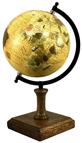 Estilo antiguo decorativo globo base de madera giratoria Atlas decoración del hogar escritorio de oficina