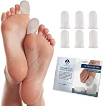 Dr. Frederick's Original Gel Toe Caps - 6 Pieces - Big Toe Guards for Protection of Ingrown Toenails, Corns, Calluses, Blisters, and More - Large