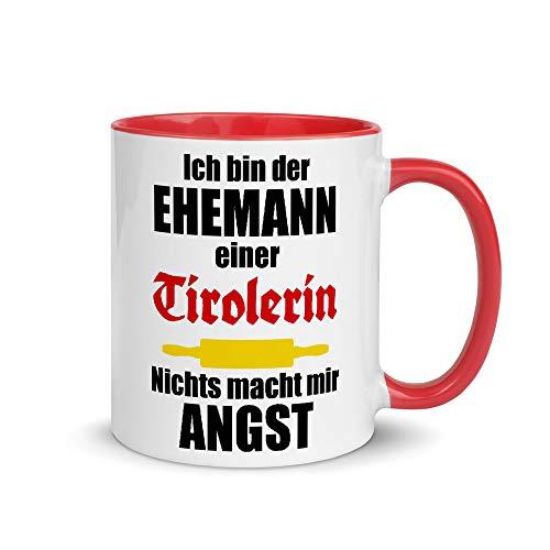 Jimbeels Ehemann Einer Tirolerin   Zweifarbige Tasse   Lustiger Tiroler Spruch   Kaffeetasse   Tirol