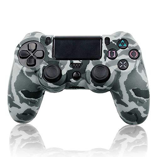 OcioDual Funda de Silicona Carcasa para Mando Sony PS4 PlayStation 4 Slim Pro Dualshock 4 Camuflaje Gris [video game]