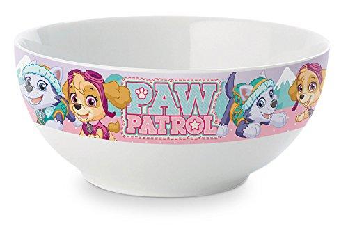 empireposter Paw Patrol - Logo rosa - Müslischale Bowl Schüssel Kinder Frühstück Cornflakes Schale - Ø 13,5 H 6