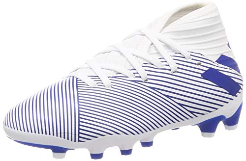 Adidas Nemeziz 19.3 MG J, Zapatillas Deportivas Fútbol Unisex Infantil, Azul (FTWR White/Team Royal Blue/Team Royal Blue), 38 2/3 EU