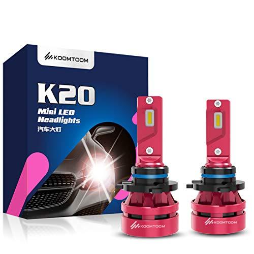 KOOMTOOM Mini LED 9012/HIR2 Lámparas para faros Kits - CREE Chips 360 ° Adjustable Beam 12000LM Beam (2x6000LM) 56W (2x28W) 6500K Xenon Blanco - 1 año de garantía