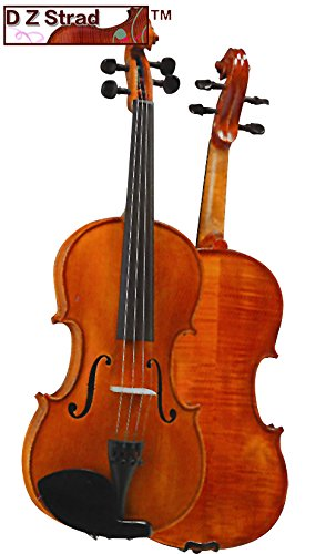 D Z Strad Violin Model 101 with Solid Wood 4/4 Full Size with Case, Bow, and Rosin (3/4 - size)