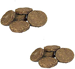 PS Original Desi Cow Dung Cake | for Hawan, Puja & Religious Purpose (75 * 12 mm) (Pack of 10x2=20 Nos of Cake)