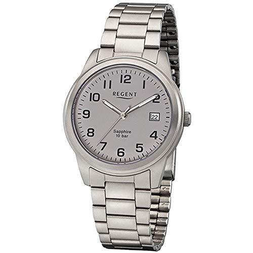 Regent Titan–Reloj de Pulsera analógico de Cuarzo Banda de Titanio W de 0205
