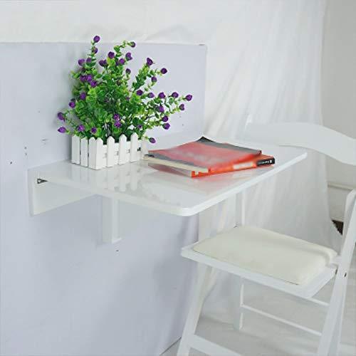 LXDZXY Escritorio de la computadora montado en la pared del hogar - Mesa de escritorio plegable de la pared Mesa de madera de la hoja de la gota Rectángulo Mesa de comedor Escritorio de la co