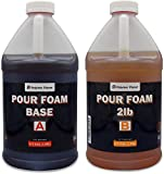 Polymer Planet Liquid Urethane - 2-Part Closed Cell Rigid Pour Foam - 2 Lb Density - Fast-Acting Formula - Great for Boat Buoyancy, Flotation, Filling, Soundproofing, & Insulation - 1 Gallon Kit Total