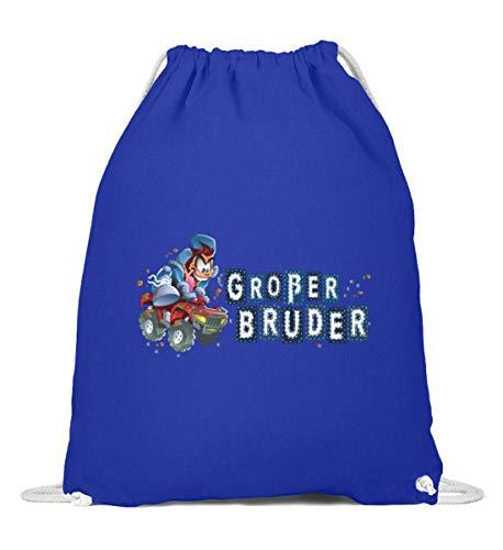 MDMA Großer Bruder Wild Quad Comic Boy - Baumwoll Gymsac -37cm-46cm-Royales Blau