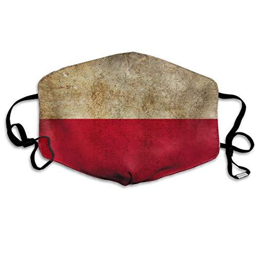Rode witte Grunge vlaggen Poolse Polen Unisex Volledige Coverage Buis Gezicht Masker Bandanas UV Bescherming Hals Gaiter Hoofdband