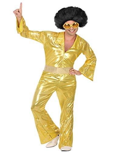 Atosa-55915 Disfraz Disco, Color Dorado, M-L (55915)
