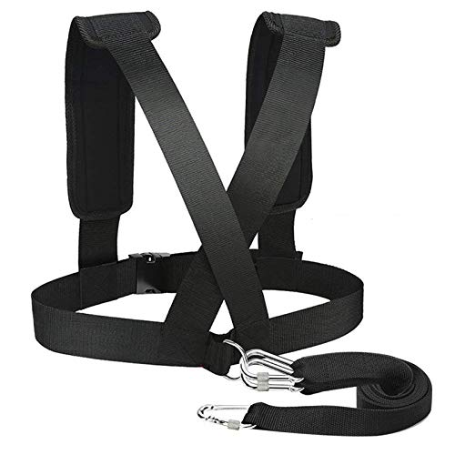 Sled Harness Tire Pulling Harness Pull Strap with Reinforced Lock,Can Pull up to 1.5T Weight for Fitness Weight Resistance Training Speed Harness Trainer Football Workout Equipment