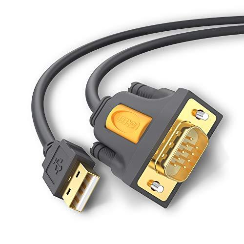 UGREEN USB auf RS232 Seriell Kabel USB Seriell DB9 mit PL2303 Chipsatz (2M)