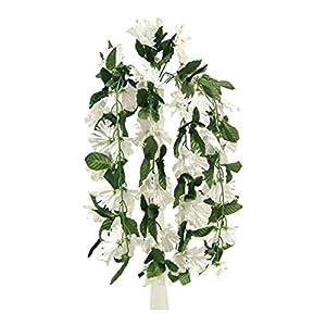 Floral Décor Supplies for 26″ Hanging Hibiscus Bush Artificial Silk Flowers Wedding Arch Centerpiece Vines for DIY Flower Arrangement Decorations – Color is White