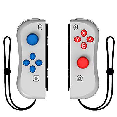 Kinvoca Joy Con Controller Replacement for Nintendo Switch, L/R Joycon Pad with Wrist Strap, Alternatives for Nintendo Switch Controllers, Wired/Wireless Switch Remotes by KINVOCA