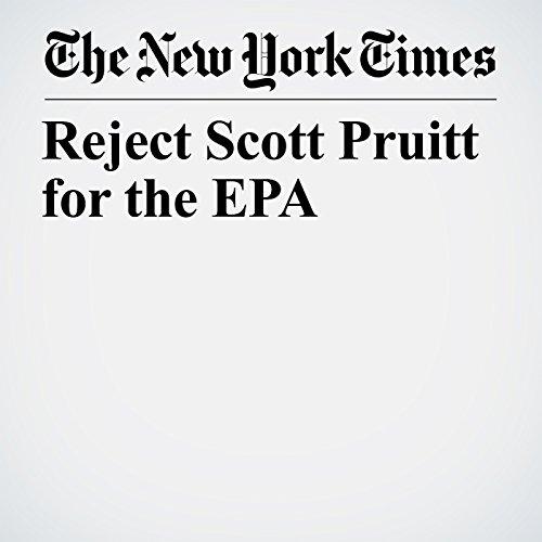 Reject Scott Pruitt for the EPA copertina