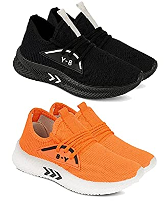Camfoot Kids & Boys (1659-1658) Multicolor Casual Stylish Sports Shoes (Set of 2 Pair)
