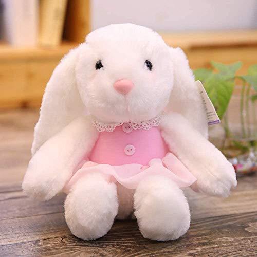 ADIE Plüschtier Charmantes Kaninchen ausgestopftes Spielzeug, weiche Teddy-Puppen, Baby schlafende Spielzeug, Geburtstagsgeschenke für Kinder und Mädchen 30cm (Rosa)