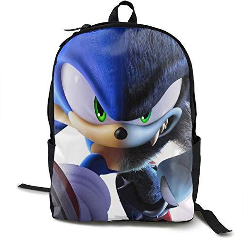 Ewtretr So-nic The Hedgehog Backpack Unisex Easy to Carry Bags for Travel Outdoor Hiking